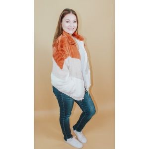 Autumn Air Chevron Pocketed Jacket